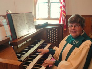 Photo - Peg Jacobs at our Organ 9/29/13